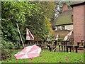 SX8963 : Upturned parasol, Cockington by Derek Harper