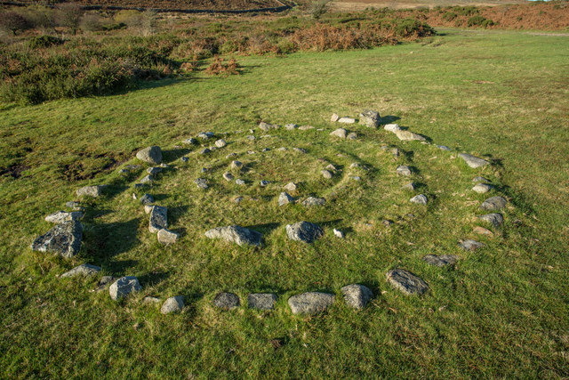 Stone Spiral by path to Blackslade Ford