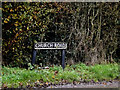 TM1480 : Church Road sign by Adrian Cable