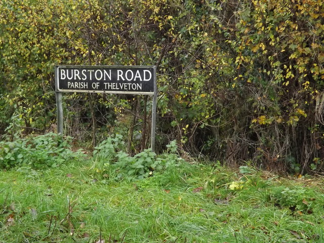 Burston Road sign
