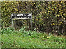 TM1481 : Burston Road sign by Adrian Cable