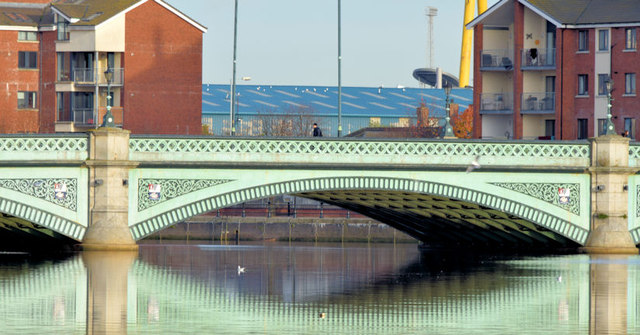 The Albert Bridge, Belfast (November 2014)