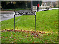 TM1383 : Rectory Road sign by Adrian Cable