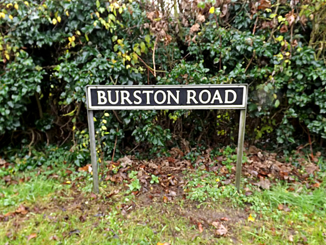 Burston Road sign