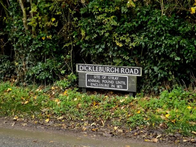 Dickleburgh Road sign