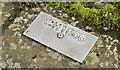 J4972 : Kerbstone number plaque, seawall, Newtownards (November 2014) by Albert Bridge
