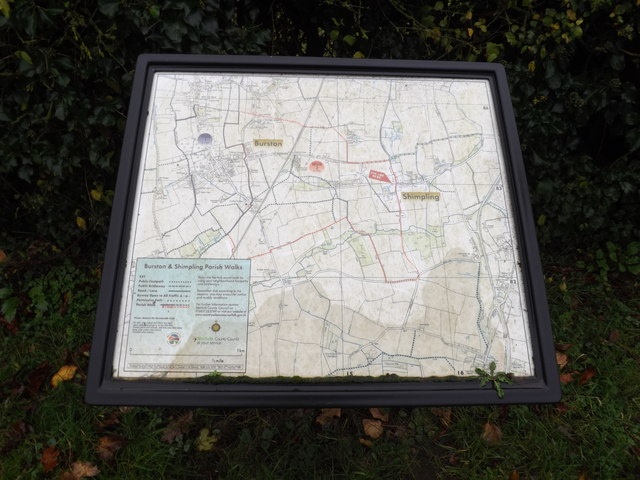 Burston & Shimpling Village Map