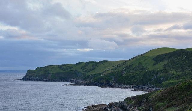 Evening at Lansallos Bay, Cornwall