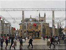 TL1998 : Cathedral Square, Peterborough, prepares for Christmas by Paul Bryan
