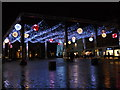 TL1998 : Christmas lights on Cathedral Square, Peterborough by Paul Bryan
