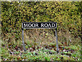 TM1683 : Moor Road sign by Adrian Cable