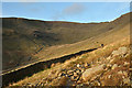 NY3609 : Dry stone wall in valley of Rydal Beck by Trevor Littlewood