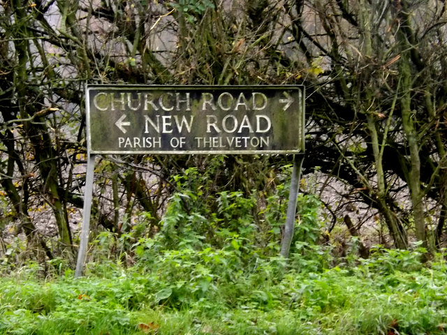 Church Road & New Road signs