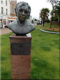 SX9163 : Agatha Christie statue in Torquay by Jaggery
