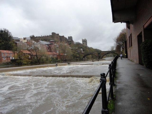 River Wear at Durham in spate