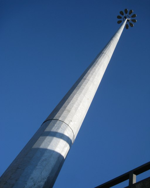 Lighting mast by the Swanswell interchange, Coventry ring road junction 2