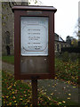 TM1986 : St. Mary Magdalene Church Notice Board by Geographer