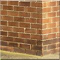 SK6291 : Bench mark, Bircotes Library by Alan Murray-Rust