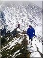 NN1666 : On the Devils Ridge, Sgurr a Mhaim by Alan Reid