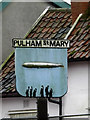 TM2185 : Pulham St.Mary Village sign by Adrian Cable