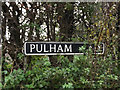 TM2384 : Pulham Road sign by Adrian Cable