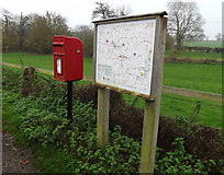 TM2384 : The Street Postbox & Starston Village Map by Geographer
