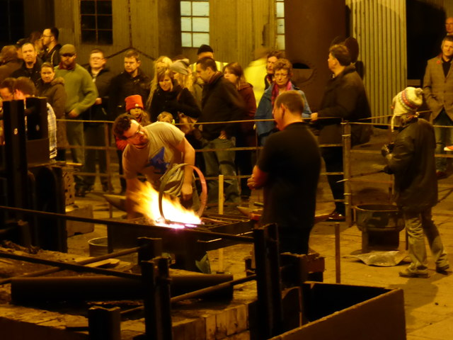 Blists Hill Victorian Town - blacksmith demonstration