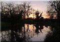 SK7090 : Chesterfield Canal at sunset by Alan Murray-Rust