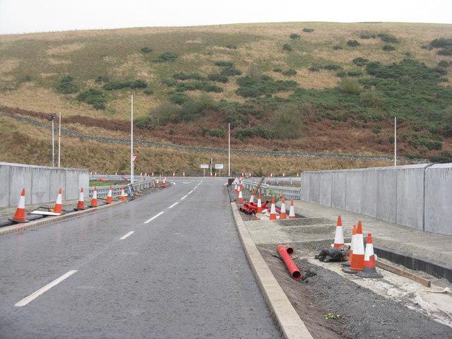 New bridge and road at Heriot
