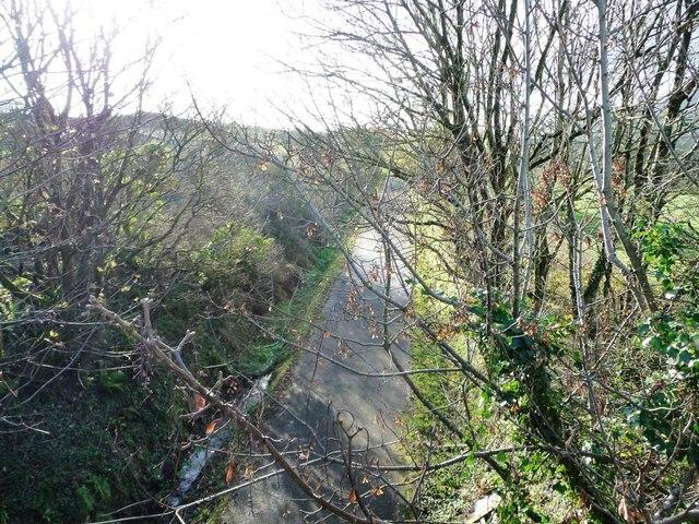 The former Caernarfon - Pwllheli railway line
