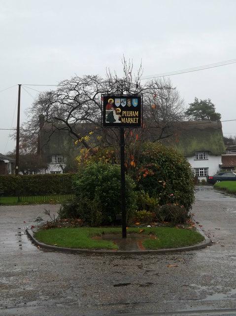 Pulham Market Village sign