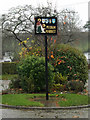 TM1986 : Pulham Market Village sign by Adrian Cable