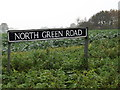 TM2287 : North Green Road sign by Adrian Cable