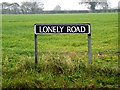 TM2287 : Lonely Road sign by Adrian Cable