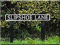 TM2388 : Slipshoe Lane sign by Adrian Cable