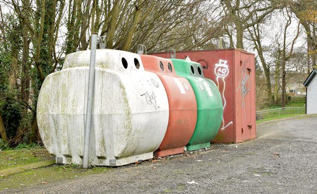 Recycling bins, Donaghadee (November 2014)