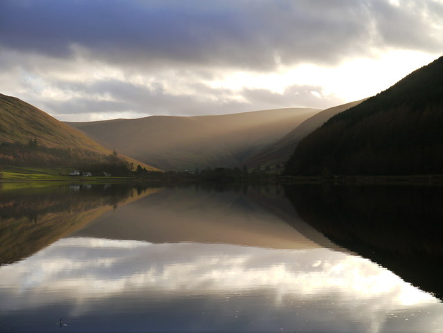 Loch Of The Lowes On A Winter Afternoon