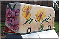 TQ3785 : Bus Art, 'English Herbaceous Border' by Oast House Archive