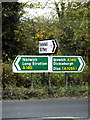 TM1785 : Roadsigns on the A140 Ipswich Road by Adrian Cable