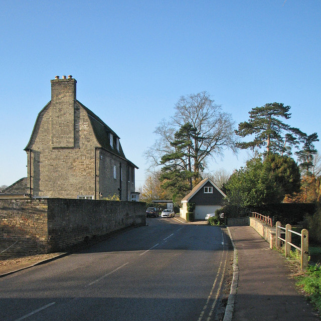 Grantchester Mill on a bright November morning