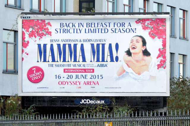 Mamma Mia! poster, Belfast (November 2014)