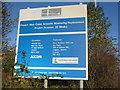 NT1278 : Notice on the Forth Road Bridge by M J Richardson