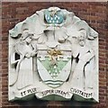 TQ3182 : Crest of the former Metropolitan Water Board by Mike Quinn