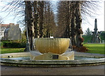 TR1457 : The fountain in Dane John Gardens, Canterbury by pam fray