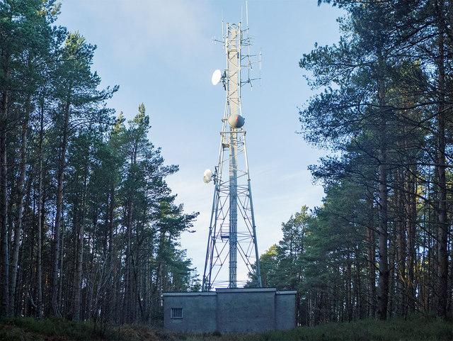 Mast on Callachy Hill