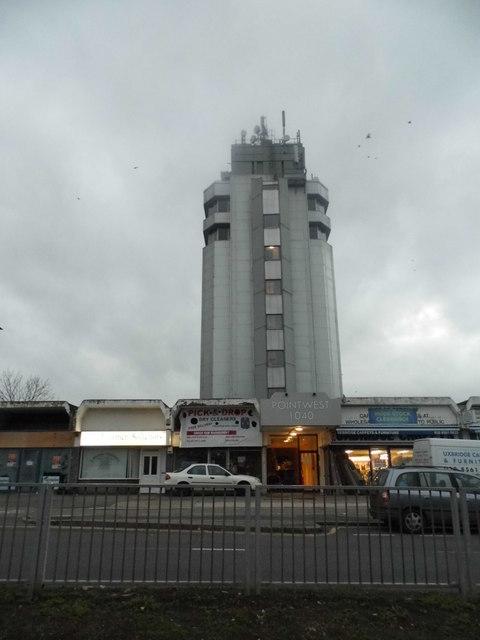 Tower block by Uxbridge Road, Hayes