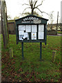 TM1178 : Palgrave Village Notice Board by Adrian Cable