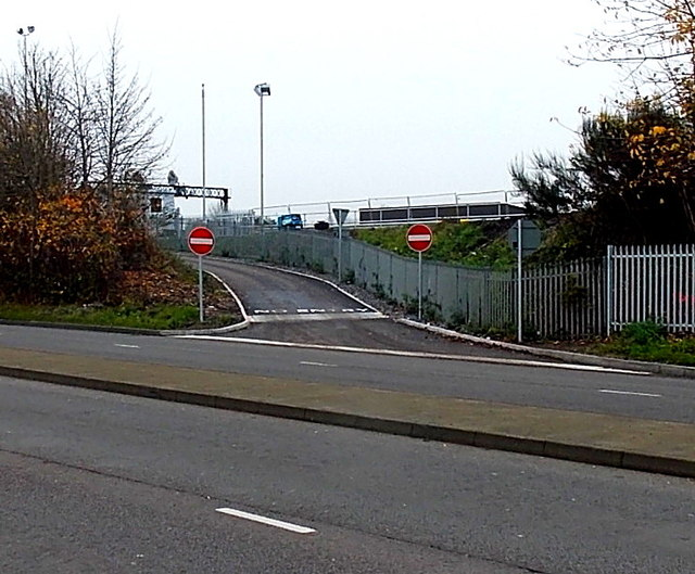 Exit road from a railway site, Swindon
