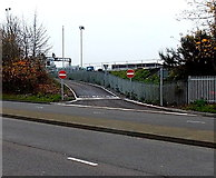 SU1585 : Exit road from a railway site, Swindon by Jaggery