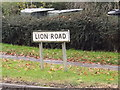 TM1178 : Lion Road sign by Adrian Cable
